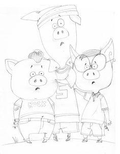 """stephanie alastra: Les 3 petits """"Cochon"""""""