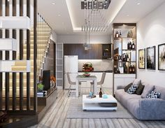 Tuy không có lợi thế về diện tích nhưng với các lưu ý trong bố trí cầu thang nhà ống dưới đây sẽ giúp bạn mang đến một không gian thoáng đãng và khoa học. Best Small House Designs, Home Fashion, Home Interior Design, Living Room Designs, House Styles, Furniture, Home Decor, Entrepreneur Quotes, Salons