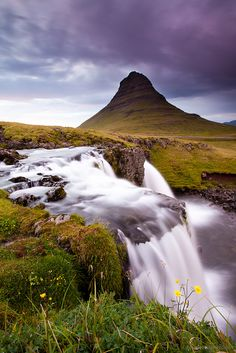 Kirkjufell at sunset, Iceland  ~amazing nature~