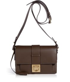 f4d37c62761 Salvatore Ferragamo Dark Brown Leather Anzhela Crossbody Bag Brown Leather  Crossbody Purse, Crossbody Bag,