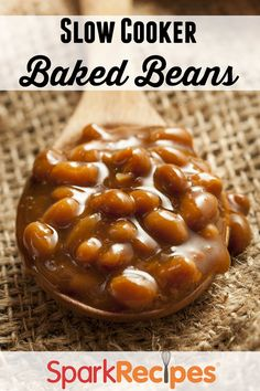 Slow Cooker Boston Baked Beans Recipe via @SparkPeople