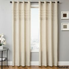 Carry Pleated Gromment Top Curtain Panel | Overstock.com Shopping - Great Deals on Curtains