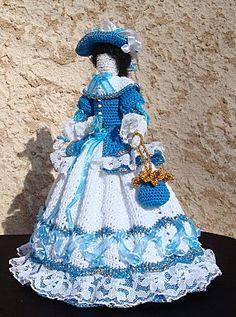 Poupée 19e Ce blog comporte des poupées au crochet plus jolies les unes que les autres