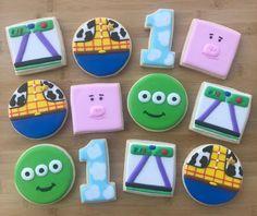 Ninja Birthday, Toy Story Birthday, 3rd Birthday, First Birthday Party Decorations, 6th Birthday Parties, Monsters Inc Cookies, Toy Story Cookies, Toy Story Baby, Cumple Toy Story