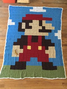 """The wife made me a blanket"" [Mario]  Source: https://www.reddit.com/r/gaming/comments/4bcgap/the_wife_made_me_a_blanket/  #Gaming #VideoGames #Nintendo"