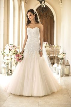 We are loving this #elegant fit and flare #gown {Stella York}