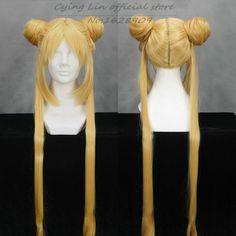 Bishoujo Senshi Sailor Moon Tsukino Usagi Princess Sanae Dekomori Cos Wig Gold Hair Anime Cosplay Wigs