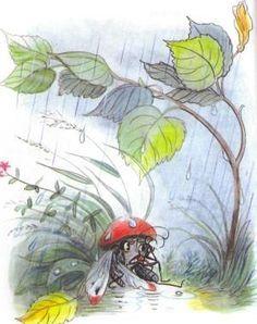 Сказка: Под грибом (иллюстрации: Сутеев В.)