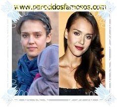 Parecidos con famosos: Jessica Alba sin maquillaje