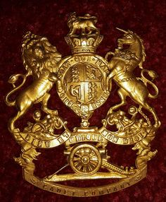 Cadet Company Officers Gilt Helmet Plate