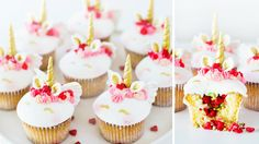 UNICORN CUPID CUPCAKES With Pop Rock Pinata Surprise   Valentines Treats How To Tutorial DIY - YouTube