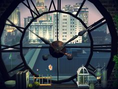 Decorated by thelittlesim in the Sims 3. I love the city clock tower!