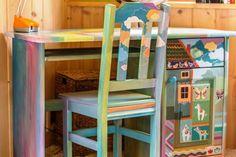 Biurko z krzesłem do pokoju dziecięcego - Leszek911 - Biurka dla dzieci