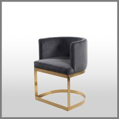 MILANI OCCASIONAL CHAIR IN GREY VELVET