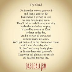 The Grind #Baseballism