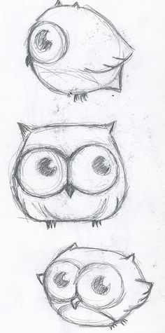 These are really cute owls that would be easy to draw <3