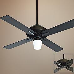 "52"" Craftmade South Beach Flat Black Outdoor Ceiling Fan"