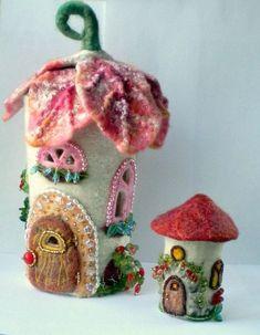 felt fairy houses | Felt Fairy House by Irina Orlova ♥