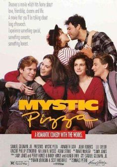 MYSTIC PIZZA: Directed by Donald Petrie. With Annabeth Gish, Julia Roberts, Lili Taylor, Vincent D'Onofrio. Three teenage girls come of age while working at a pizza parlor in the Connecticut town of Mystic. See Movie, Movie List, Film Movie, 80s Movies, Great Movies, Girly Movies, Imdb Movies, Comedy Movies, Annabeth Gish