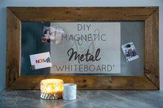 DIY Magnetic Metal 'whiteboard'