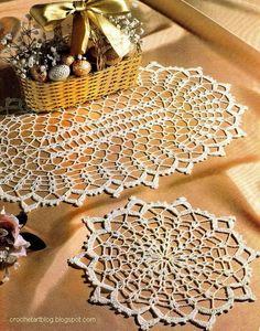 Crochet dentelle Napperons