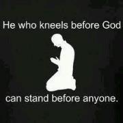 I kneels before you always please help me stand before mine enemies