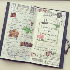 A week passed again, week 3 of July #travelersnotebook #washitape #travelersnote…
