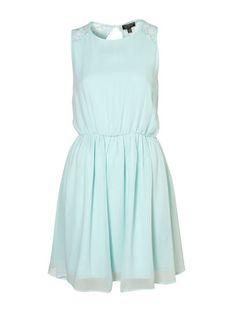 Light blue dress with floral mesh back