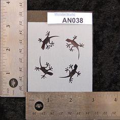 Lizards Stencil 2-3/4 x 3 7 mil  AN038 by MonsterWurkz on Etsy