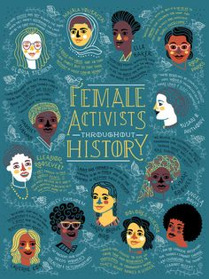 Female Activist Throughout History Poster by Rachelignotofsky