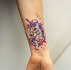 purple-wrist-unicorn-tattoo1.jpg (630×628)