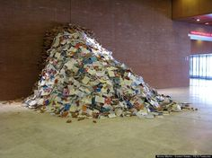 Brilliant 'Biografies' Sculptures By Alicia Martin Leaves Madrid Bursting With Books