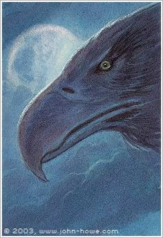 John Howe :: Illustrator Portfolio :: Home / From Hobbiton to Mordor / Cards and Such / Gwaihier Windlord Glorfindel, John Howe, Fanart, Jrr Tolkien, Middle Earth, Lord Of The Rings, Fantasy Creatures, Lotr, The Hobbit