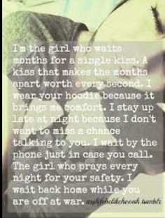 I don't normally post this kind of stuff, but I'm in a sappy, I miss my soldier kind of mood!!
