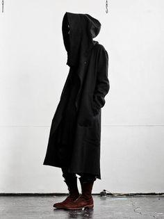nude:masahiko maruyama<br />メンズハイネックロングパーカー BLACK - 24TH OF AUGUST / Shim Limited Design Inc
