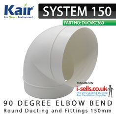 39 Best SYSTEM 150mm - Ducting and Fittings 180x95mm images