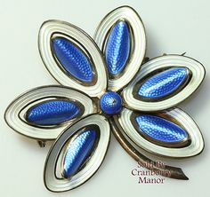 Items similar to Aksel Holmsen Norway Sterling Silver Gold Vermeil Blue White Guilloche Enamel Brooch Vintage Mid Century Fashion Designer Jewelry Gift on Etsy Enamel Jewelry, Sterling Silver Jewelry, Antique Jewelry, Vintage Jewelry, Designer Jewelry, Jewelry Design, April Showers, Ruby Lane, Brooch Pin