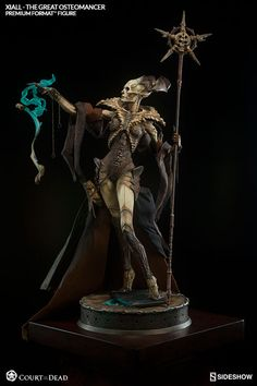 The Great Osteomancer, Xiall, Premium Format Figure is now available at Sideshow.com for fans of Court of the Dead and dark fantasy collectibles.