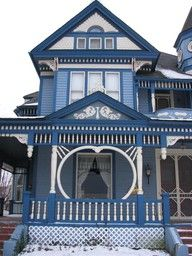 Victorian blue home