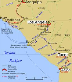 War of the Pacific - Wikipedia, the free encyclopedia War Of The Pacific, Bolivia, Lima, Maps, Map Of Middle Earth, Inca Empire, Arequipa, Life, Grey