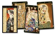 Klimt tarots - this deck is exquisite. Klimt, Tarot Cards, Runes, Mystic, Witch, Frame, Universe, Reading, Collection