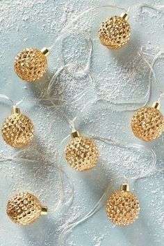 Anthropologie Faceted Mercury String Lights
