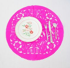 Round paper placemat, Paper doilies, doily table runner, Round doilies, Holliday…