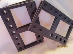 Black DIY Film Strip Frames-Blank Chipboard Filmstrip Shapes for Decorating. $4.00, via Etsy.