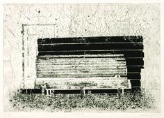 "Marta Galisz ""Ławka"" akwaforta / pejzaż / etching / landscape Landscape, Inspiration, Art, Biblical Inspiration, Art Background, Scenery, Kunst, Performing Arts, Corner Landscaping"