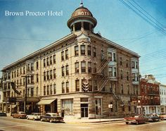 A postcard of the Winchester, KY landmark, the Brown-Proctor Hotel, from the 1960s. The Brown-Proctor now an apartment building.