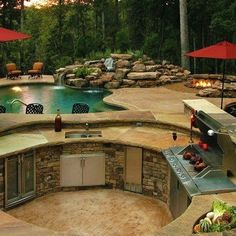 Beautiful pool area