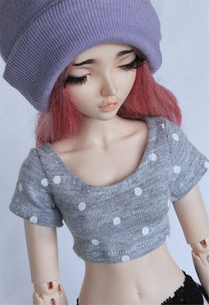 MSD BJD clothes Grey polka dot crop top t shirt MonstroDesigns™ by MonstroDesigns on Etsy https://www.etsy.com/listing/219343676/msd-bjd-clothes-grey-polka-dot-crop-top