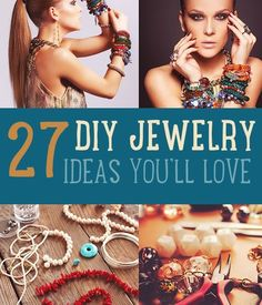 Handmade Jewelry | DIY Bracelets and Jewelry Ideas We Love. Step by step photos and instructions for awesome jewelry | http://www.diyready.com/handmade-jewelry-diy-bracelets-jewelry-making-ideas/