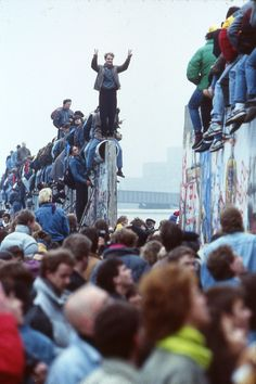 November 9, 1989, Berlin, Germany.  Finally the wall comes down!